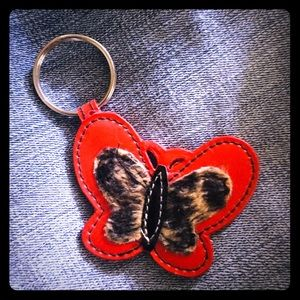Accessories - Butterfly Leopard Print Key